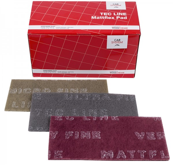 Mattierungsvlies Tec Line Mattflex Pad 115 x 230mm rot very fine - 25St.