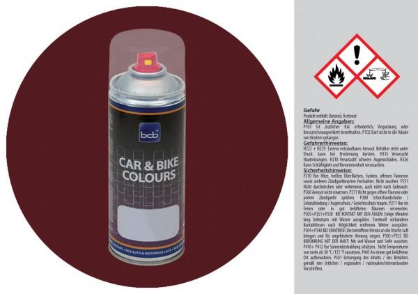 Acryllack in RAL Design 0202020 Dunkelrotbraun