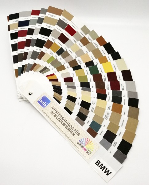 Musterkatalog für Lederfarben BMW / Arbeitskatalog