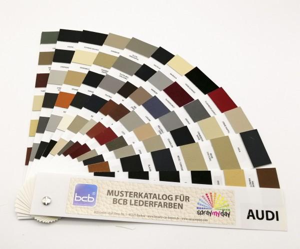 Musterkatalog für Lederfarben Audi / Arbeitskatalog
