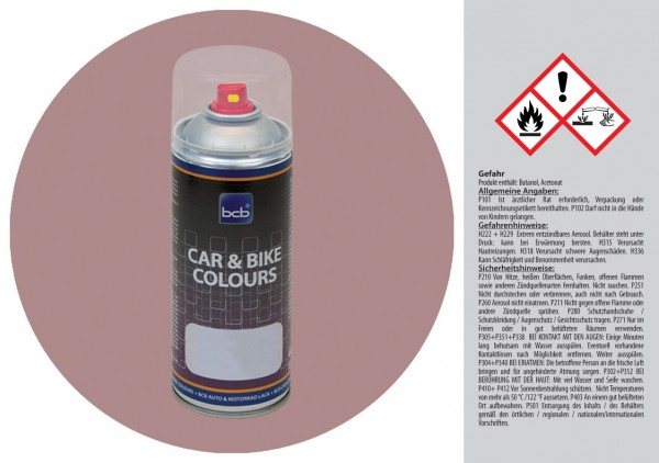 Acryllack in RAL Design 0206010 Blechrosa
