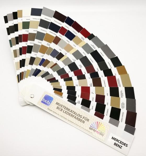 Musterkatalog für Lederfarben Mercedes / Arbeitskatalog