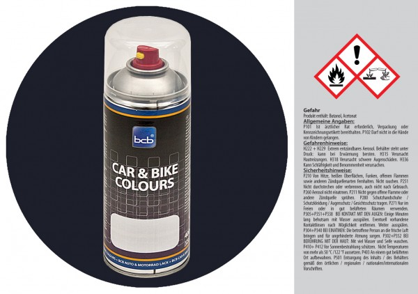 Acryllack in RAL Classic 5004 Schwarzblau