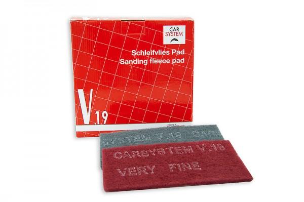 Schleifvlies V.19 Pads 115 x 230mm rot / very fine -- 25St.