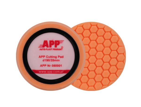 Polierschwamm HONEY Pad 190mm orange – hart