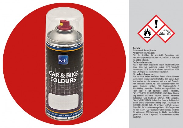 Acryllack in RAL Classic 3000 Feuerrot
