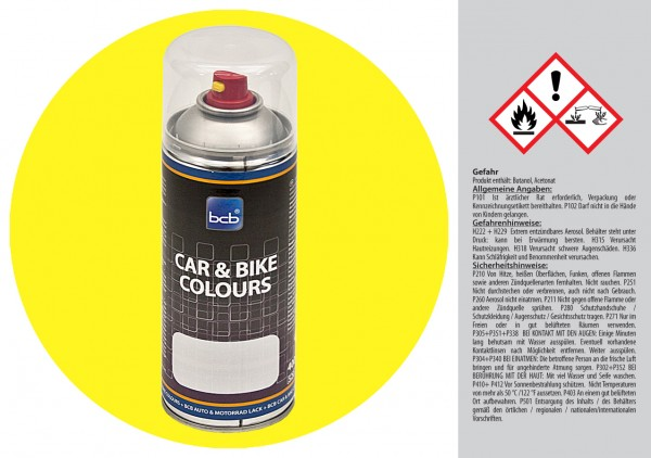 Acryllack in RAL Classic 1016 Schwefelgelb