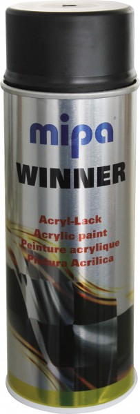 Acryllack Winner Spray schwarz seidenglänzend