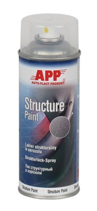 Kunststoff- Strukturlack Structure Paint transparent Spray APP - 400ml