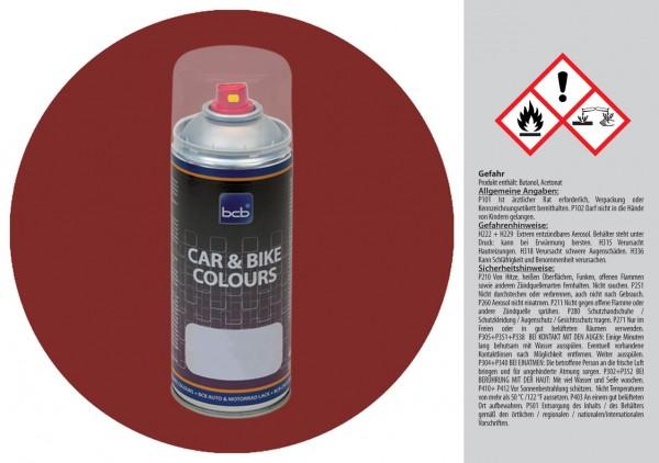 Acryllack in RAL Design 0303030 Macorefurnierrot