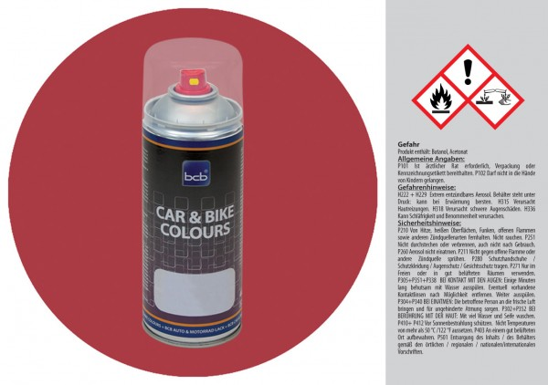 Acryllack in RAL Design 0204040 Oktoberrot