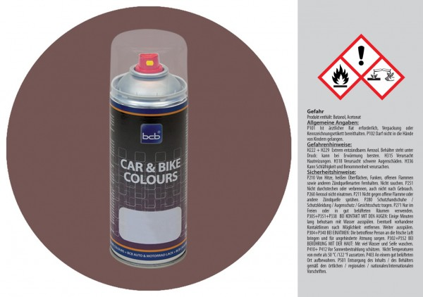 Acryllack in RAL Design 0304010 Torfrotbraun
