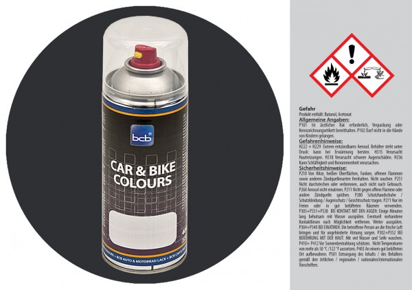 Acryllack in RAL Classic 9004 Signalschwarz