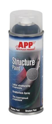 Kunststoff- Strukturlack Structure Paint schwarz Spray APP - 400ml